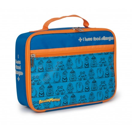 "Blue ""I Have Food Allergies"" Lunch Bag"
